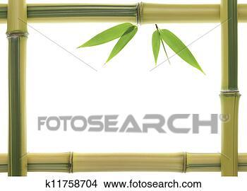 手绘图 - 黄色, 竹子,