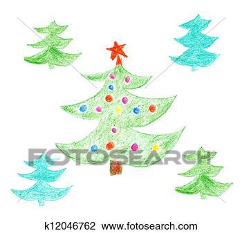 剪贴画 - 圣诞树