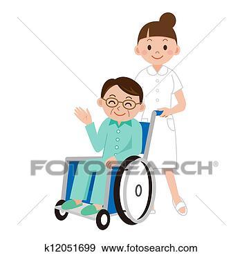 aging, caregiver, help, 中心, 临床, 人, 人们, 住处, 关心, 医学, 医院, 卡通漫画, 卷, 女性, 妇女, 家, 家庭, 工人, 帮助, 年长, 年长者, 患病, 患者, 描述, 方便, 无效, 椅子, 照料, 爱, 生活, 男性, 矢量, 祖母, 祖父, 老, 老年, 诊所, 轮子, 轮椅, 隔离, 插画,图画,剪贴画,图像,图片,绘图,美术作品, 免版税, k12051699