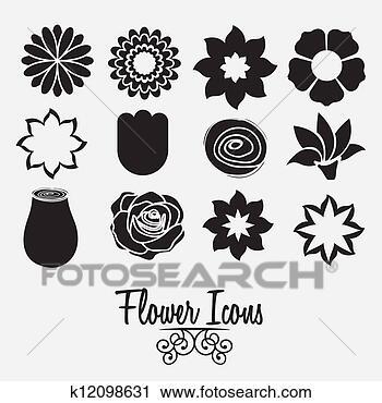 剪贴画 - 花, 图标