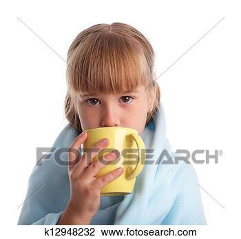 Banco de Imagem - criança, doente.  fotosearch - busca  de fotos, imagens  e clipart