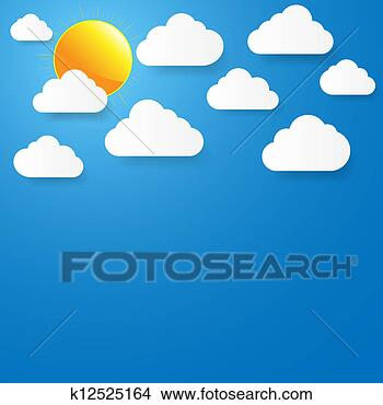 手绘图 - 蓝色, 天空,
