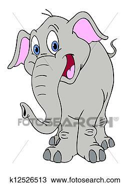 手绘图 - 开心, 象