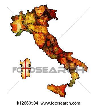 意大利地图矢量素材