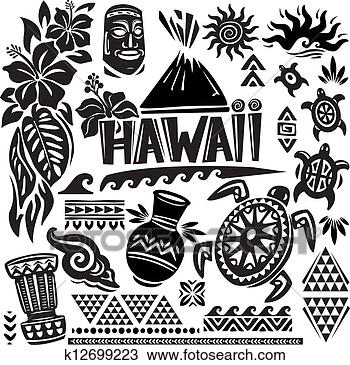手绘图 - 夏威夷, 放置