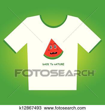 手绘图 - t衬衫, 设计