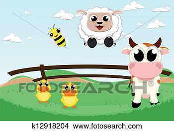 漂亮, 农场动物