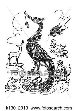 动物手绘图_动物手绘_室内手绘图