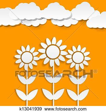 - 纸, 向日葵