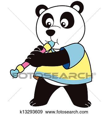 手绘熊猫卡通图片