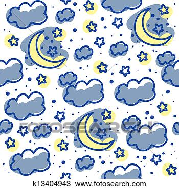 月亮和云矢量图