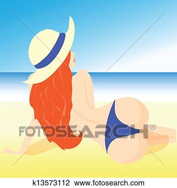卡通沙滩帽