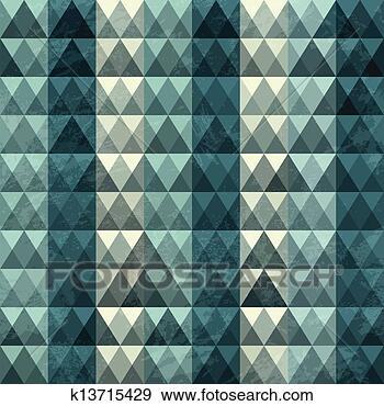 三角形, 蓝色