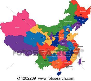 颜色地图, .的, the, 地区