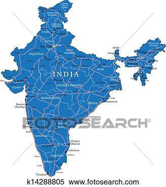 - 印度, 地图