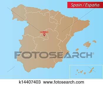 西班牙, 地图