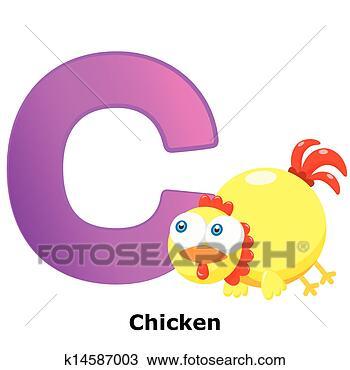手绘图 - 动物, 字母表