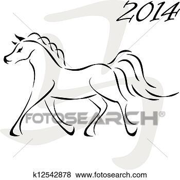 Nos propres t-shirts.... - Page 5 Vecteur-cheval-2014_~k12542878