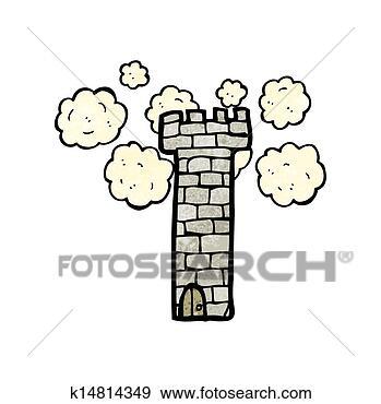 城堡手绘漫画场景