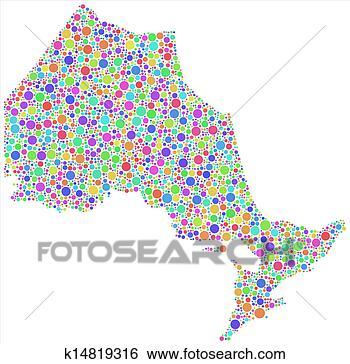 安大略省行政地图