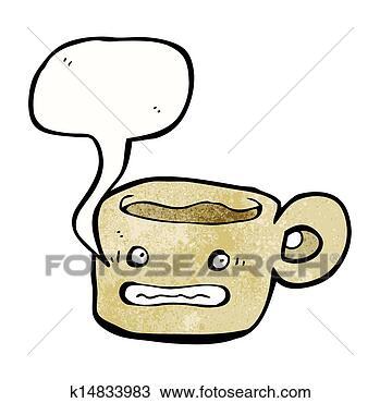 手绘图 - 焦虑, 咖啡,