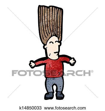 撩头发卡通图片