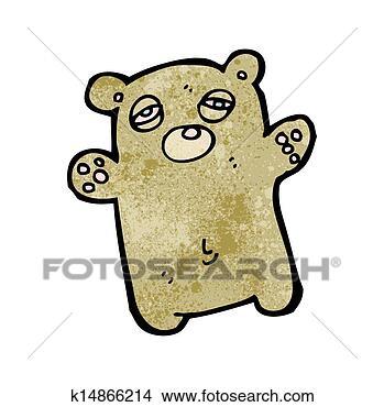 卡通玩具熊简笔画