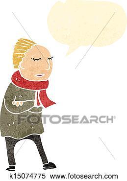 冬天的衣物卡通图片