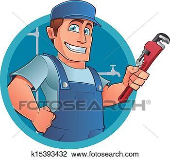 剪贴画 - 水暖工
