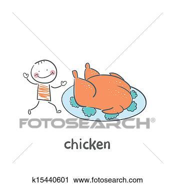 剪贴画 - 烘烤, 小鸡