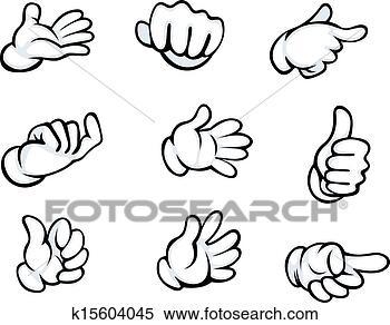 手势, 在, 卡通
