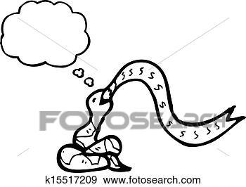 蛇动漫手绘黑