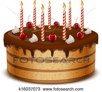 手绘图 - 生日, 蛋糕,