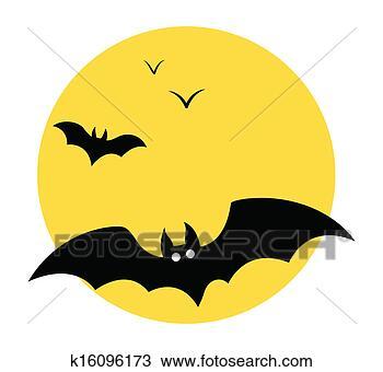 蝙蝠, 飞行, 在, 天空