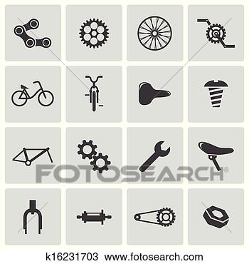 自行车矢量图标