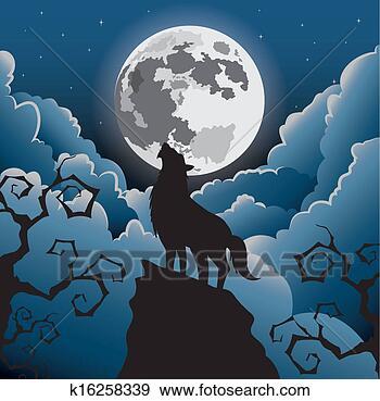 在月亮嚎叫