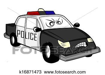 绘图- 警车, 卡通