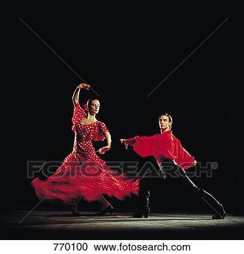 Arquivo de Fotografias - homem,  mulher,dançar,  flamenco.fotosearch - buscade fotos, imagense clipart