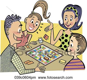 Family Playing Together Clipart Adults Playing Board Games
