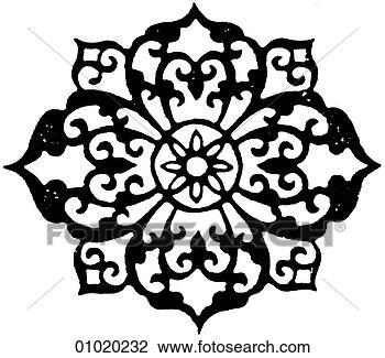 clip art zeichen symbole strichzeichnung china blumen von gl ck 01020232 suche. Black Bedroom Furniture Sets. Home Design Ideas