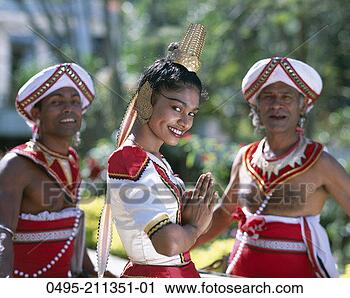Stock Photography of Sri Lanka, Kandy, Female Kandy Dancer Dressed in ...