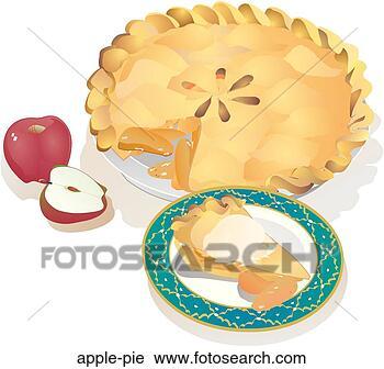 Clipart tarte aux pommes apple pie recherchez des clip - Dessin tarte aux pommes ...