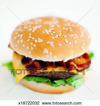 Bacon Cheeseburger Clip Art Close-up of bacon cheeseburgerBacon Cheeseburger Clip Art