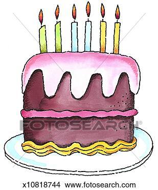 手绘图 - 生日蛋糕