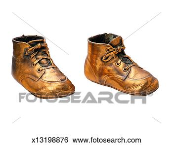 Stock Photo - bronze baby shoes. fotosearch - search stock photos
