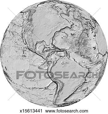 - 地形的地图