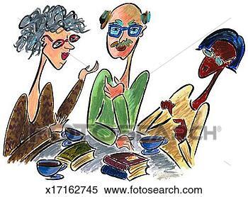 Arquivos de Ilustração - pessoas, bebendo,  café. fotosearch  - busca de imagens  de vetor grã¡fico,  desenhos, clip  art, ilustraã§ãµes