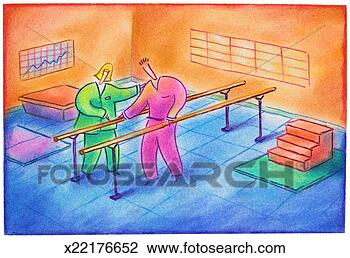 Clip Art of Physical Therapy Patient x22176652 - Search Clipart ...