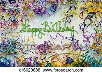 Banco de Imagem - feliz, aniversário.  fotosearch - busca  de fotos, imagens  e clipart