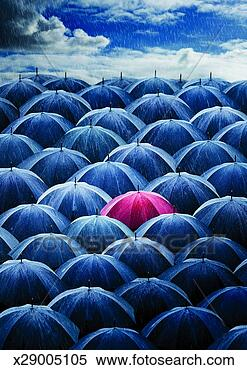 Banco de Imagem - vermelho, guarda-chuva,  amongst, grande,  grupo, guarda-chuvas.  fotosearch - busca  de fotos, imagens  e clipart